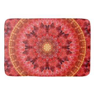 Crystal Fire Mandala Bath Mat