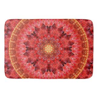 Crystal Fire Mandala Bathroom Mat