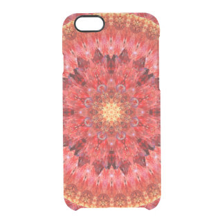 Crystal Fire Mandala Clear iPhone 6/6S Case