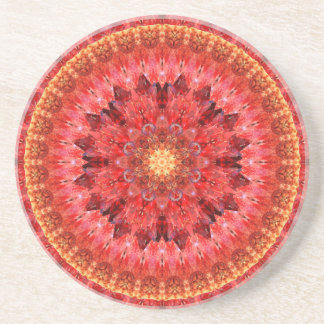 Crystal Fire Mandala Coaster