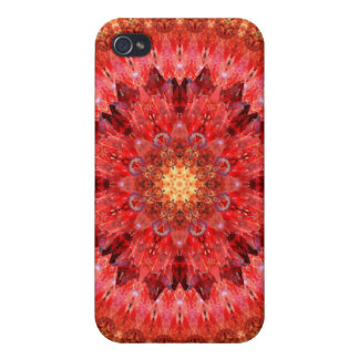 Crystal Fire Mandala Covers For iPhone 4