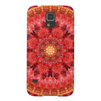 Crystal Fire Mandala Galaxy S5 Cases