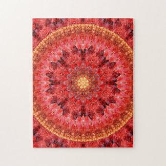 Crystal Fire Mandala Jigsaw Puzzle