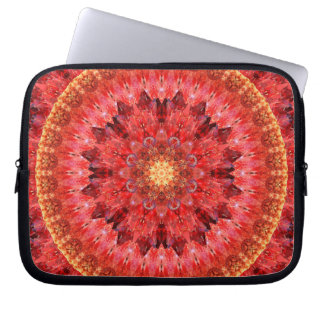 Crystal Fire Mandala Laptop Computer Sleeve