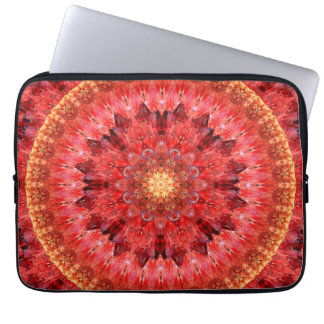 Crystal Fire Mandala Laptop Computer Sleeves