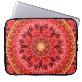 Crystal Fire Mandala Laptop Sleeve