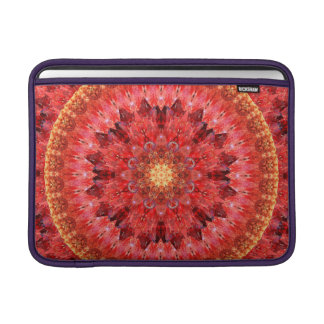 Crystal Fire Mandala MacBook Air Sleeves