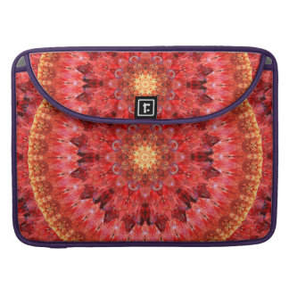 Crystal Fire Mandala MacBook Pro Sleeves
