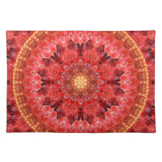 Crystal Fire Mandala Placemat