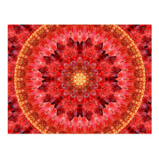 Crystal Fire Mandala Postcard