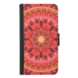 Crystal Fire Mandala Samsung Galaxy S5 Wallet Case