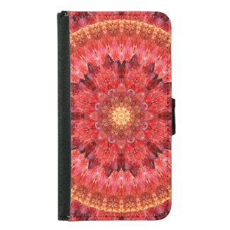 Crystal Fire Mandala Samsung Galaxy S5 Wallet Case