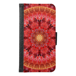 Crystal Fire Mandala Samsung Galaxy S6 Wallet Case