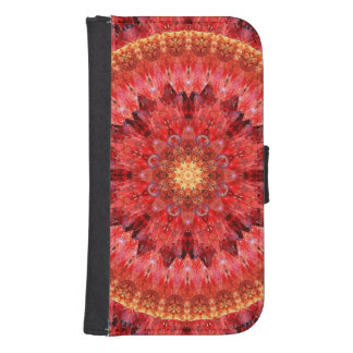 Crystal Fire Mandala Samsung S4 Wallet Case