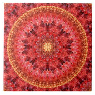 Crystal Fire Mandala Tile