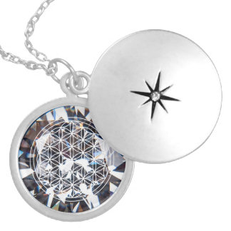 Crystal Flower of Life Mandala Necklace