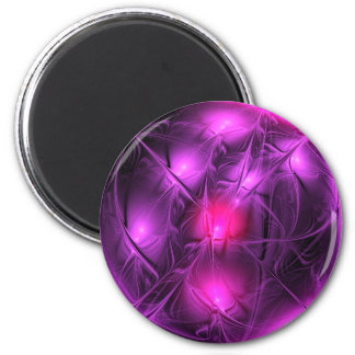 Crystal gazing (purple) magnet