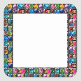 CRYSTAL GEM PEARL FRAME BLANKS : DIY 2014 SQUARE STICKER