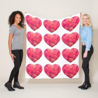 Crystal Geo Sunset heart comfy Fleece Blanket