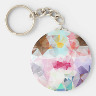 Crystal Geometric Shapes Keychain