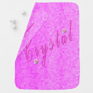 Crystal Girls Name Logo, Baby Blanket