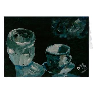 Crystal glass and teacup card