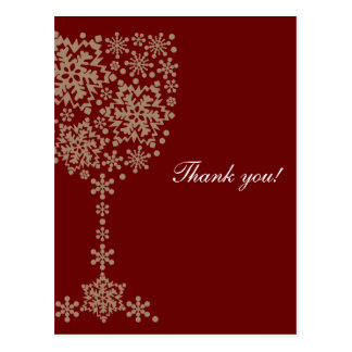 Crystal glass letter of thanks thank you card
