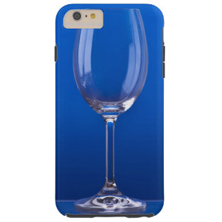 Crystal glass with luminous blue bottom tough iPhone 6 plus case