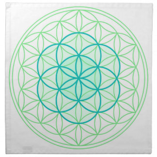 Crystal Grid Cloth Flower & Seed Of Life