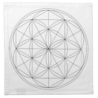 Crystal Grid Cloth Template Printed Napkin