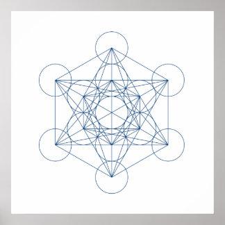 Crystal Grid - Metatron s Cube Print