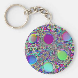 Crystal Groovy Polka Dots Keychain