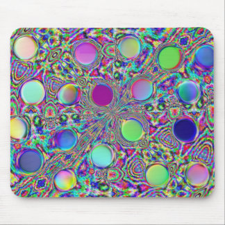 Crystal Groovy Polka Dots Mouse Pad