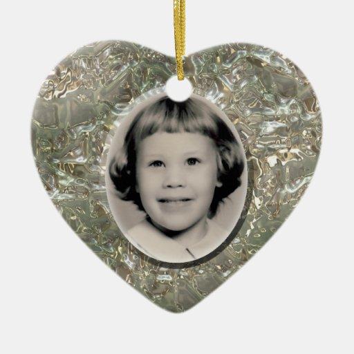Crystal Heart Memorial Ornament Customizable