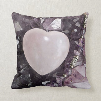 Crystal Heart Throw Pillow