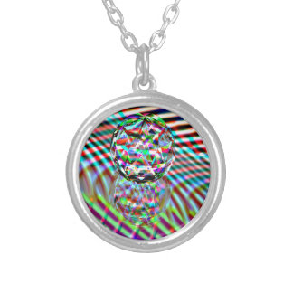 Crystal High Colours Silver Plated Necklace