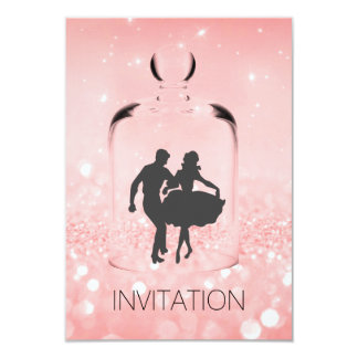 Crystal HoeDown Country Party Vip Pink Glitter Card