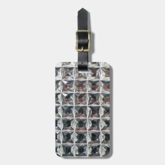 Crystal Ice Block Print Luggage Tag