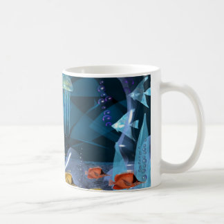 Crystal Jellyfish float by Valxart Coffee Mug