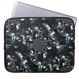 Crystal light kaleidoscope laptop computer sleeve