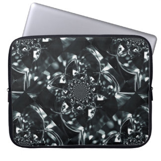 Crystal light kaleidoscope laptop sleeve