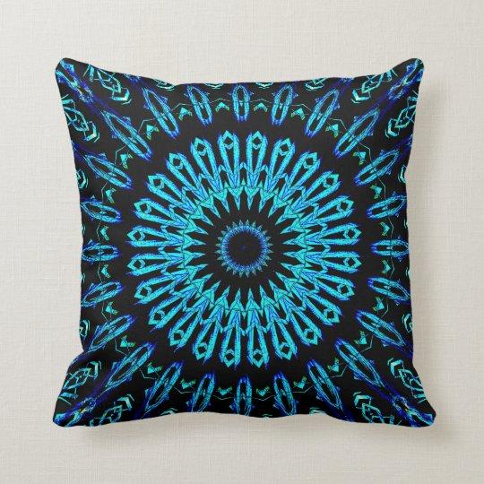 Crystal Looking Glass Mandala 2 Throw Pillow