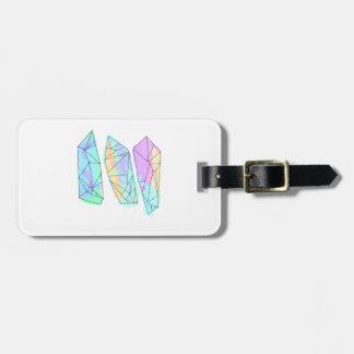 crystal luggage tag