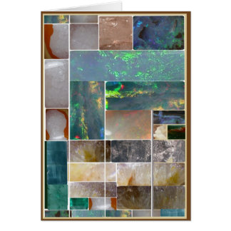 CRYSTAL Marble Artistic Collage : HealingSTONES Card