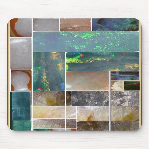 CRYSTAL Marble Artistic Collage : HealingSTONES Mousepads