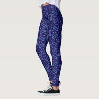 Crystal Matrix Leggings in Blue & Purple