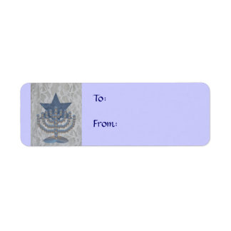 Crystal Menorah, Return Address Label
