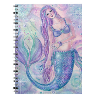Crystal mermaid art notebook by Renee Lavoie
