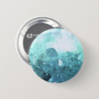 Crystal Mint 2 Inch Round Button