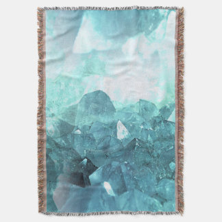 Crystal Mint Throw Blanket